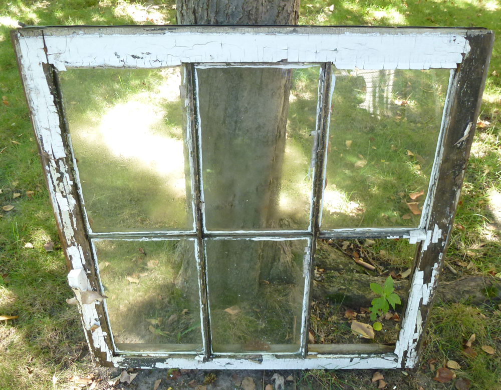 Details About Vintage Wood Sash 30x29 6 Panel Gl Double Hung Window Pane Craft Project 1