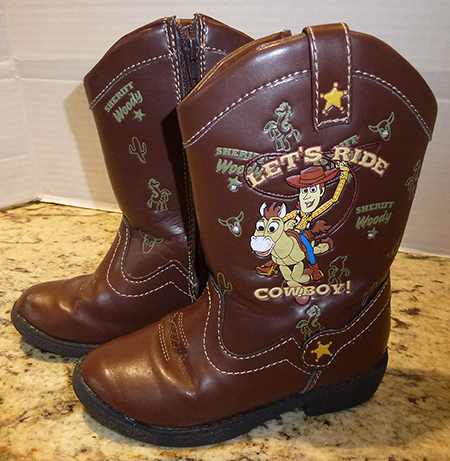 739758da299 Details about Toy Story 3 Light Up Cowboy Boots Woody, Bullseye & Friends  Brown Boys Size 7